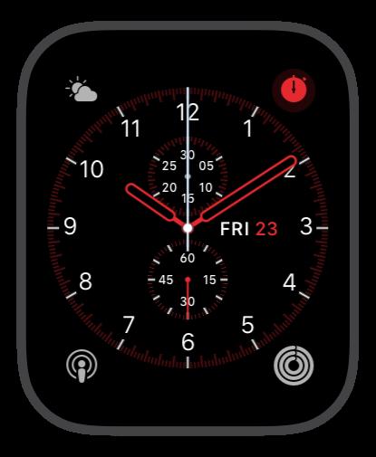 Cronograph Red